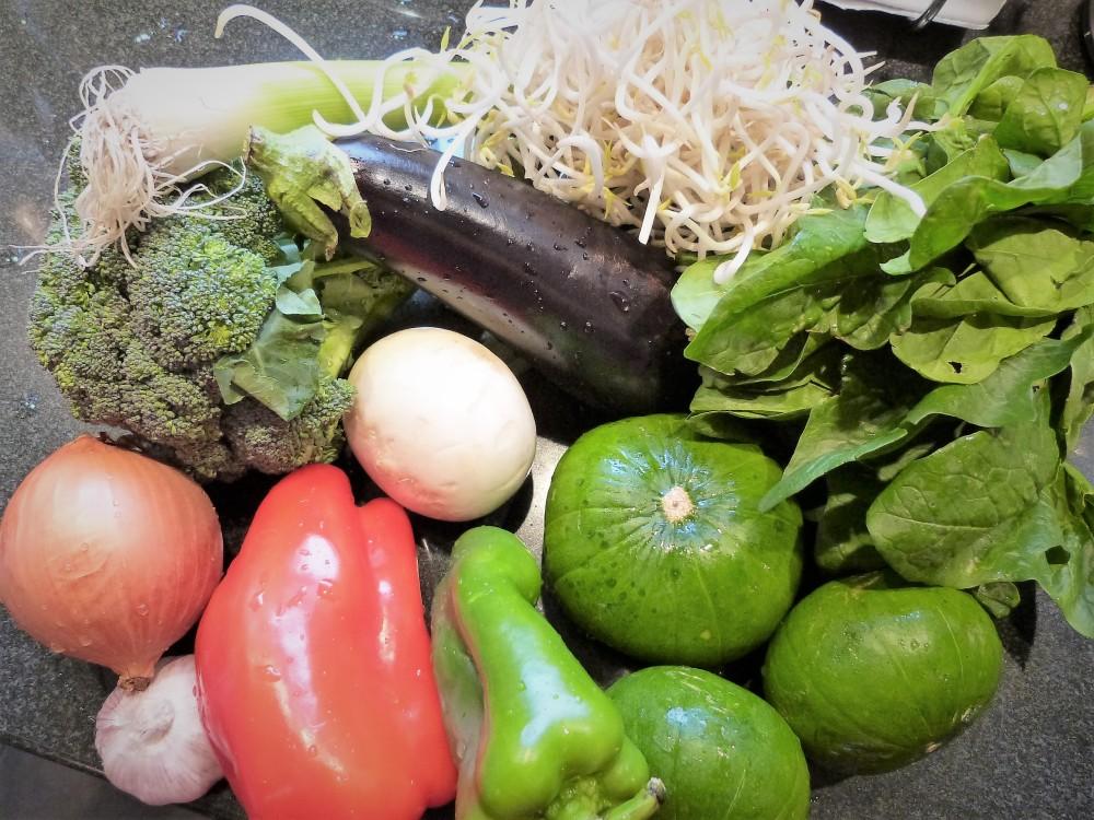 Feijão e brocolis